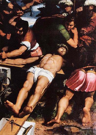 Nailing of Christ to the Cross, Callisto Piazza