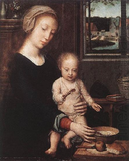 Madonna and Child with the Milk Soup, Gerard David