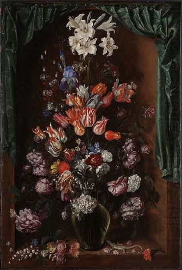 Vase of Flowers with a Curtain, Jacob de Gheyn II