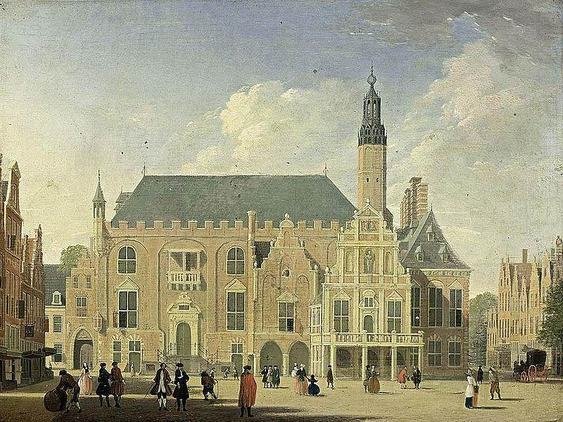 Haarlem: view of the Town Hall, Jan ten Compe