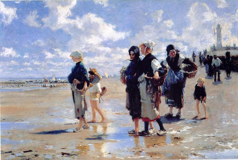 Oyster Gatherers of Cancale, John Singer Sargent