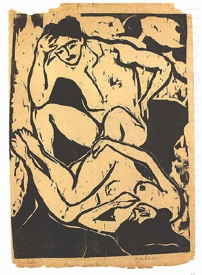 Nacked couple on a couch, Ernst Ludwig Kirchner