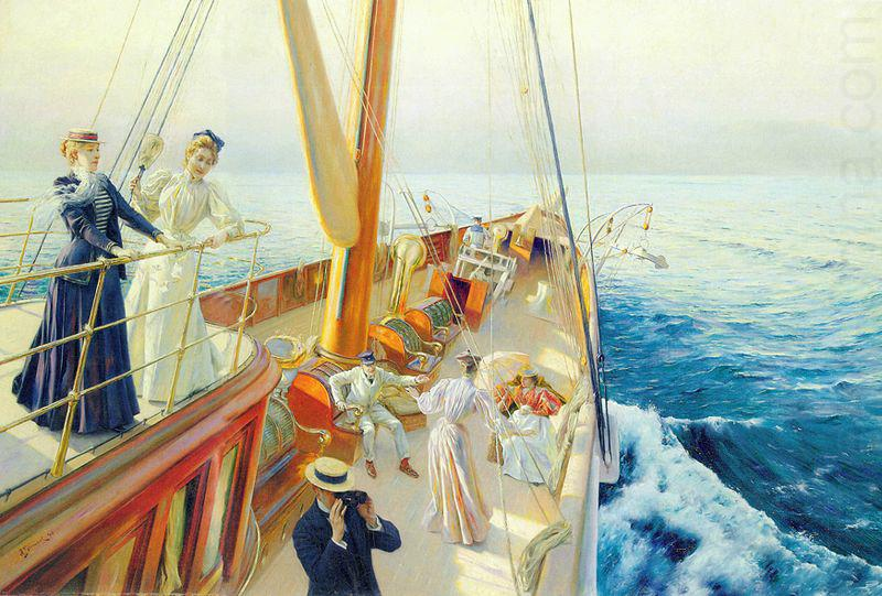 Yachting in the Mediterranean, Julius LeBlanc Stewart