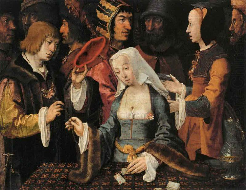 FortuneTeller with a Fool, Lucas van Leyden