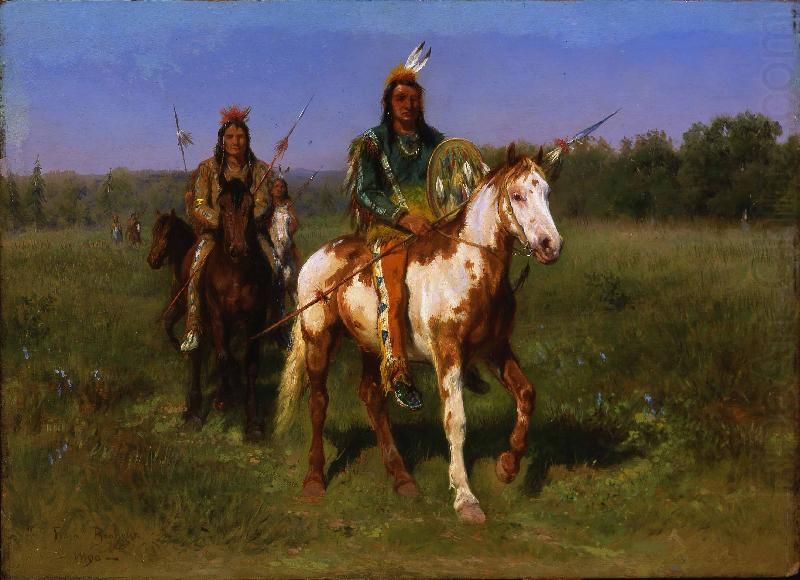 Mounted Indians Carrying Spears, Rosa Bonheur