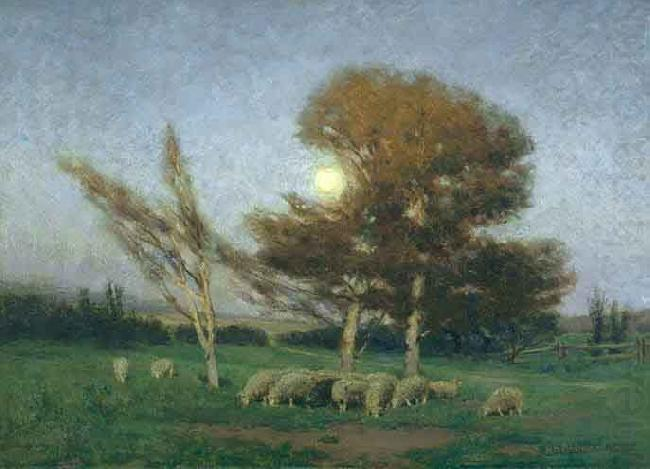 Early Moonrise in September, William Bromley