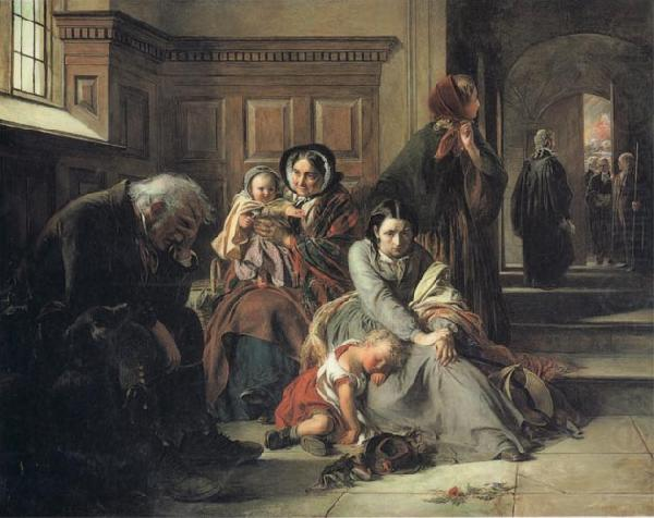 Waiting for the Verdict, Abraham Solomon
