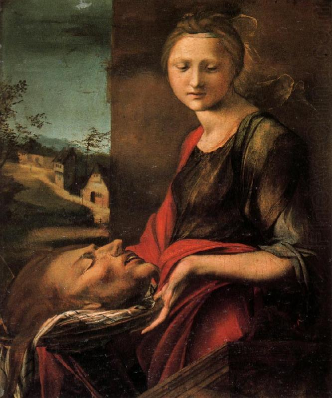 BERRUGUETE, Alonso Salome with the Head of John the Baptist