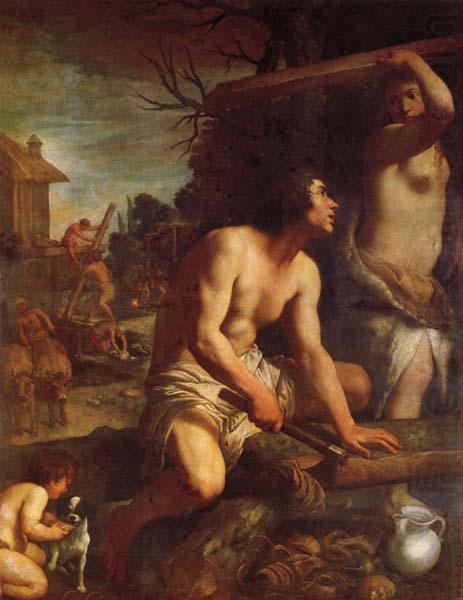 The Building of Noah's Ark, Guido Reni