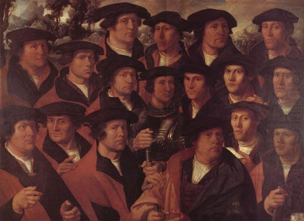 JACOBSZ, Dirck Group Portrait of the Arquebusiers of Amsterdam