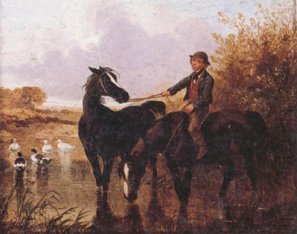 Watering The Horses and Farmyard Companions:a Pair of Paintings, John Frederick Herring