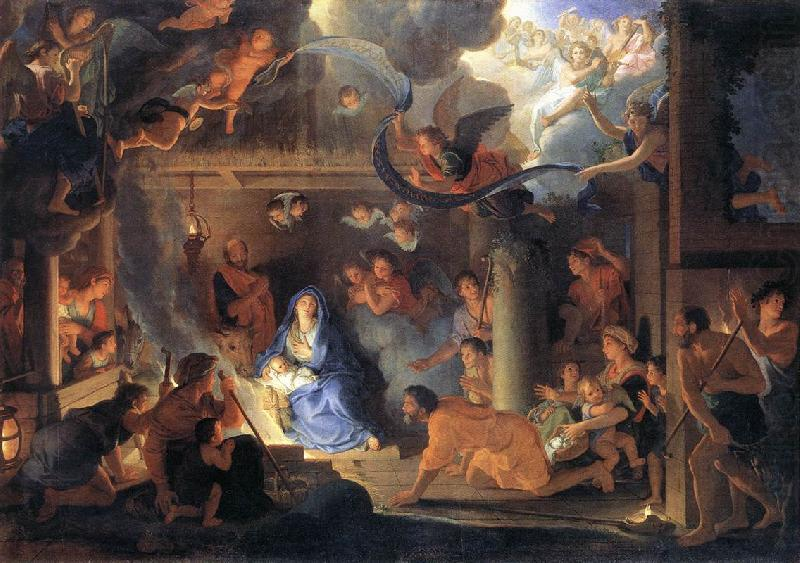 LE BRUN, Charles Adoration of the Shepherds