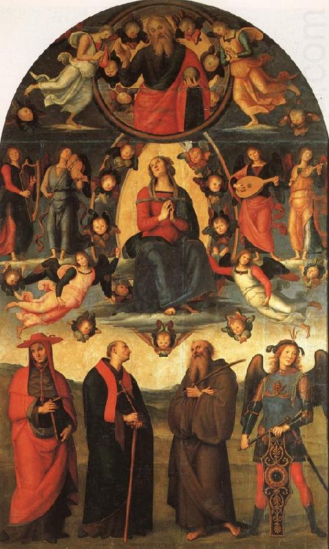 The Assumption of the Virgin with Saints, PERUGINO, Pietro