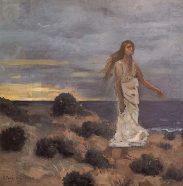 Mad Woman at the Edge of the Sea, Pierre Puvis de Chavannes