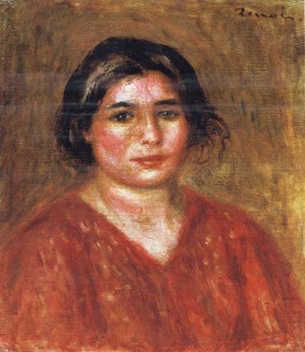 Gabrielle in a Red Blouse, Pierre Renoir