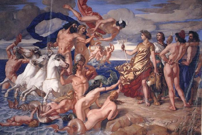 Neptune Resigning to Britannia the Empire of the sea, William Dyce