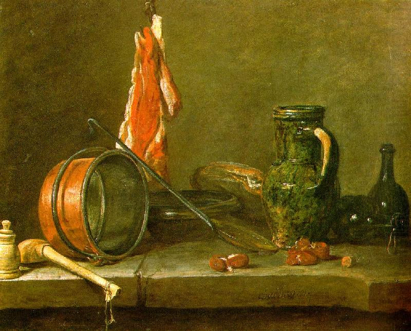 A  Lean Diet with Cooking Utensils, jean-Baptiste-Simeon Chardin