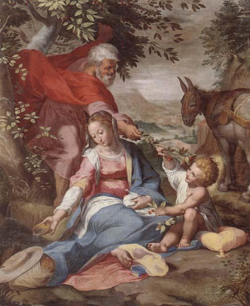 The rest on the flight into egypt, unknow artist