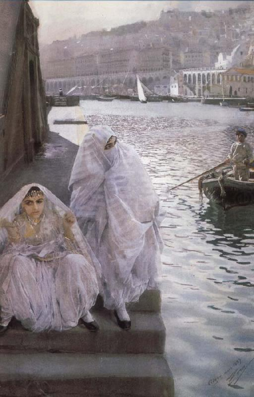 I Algers Hamn (In the harbour of Algiers), Anders Zorn