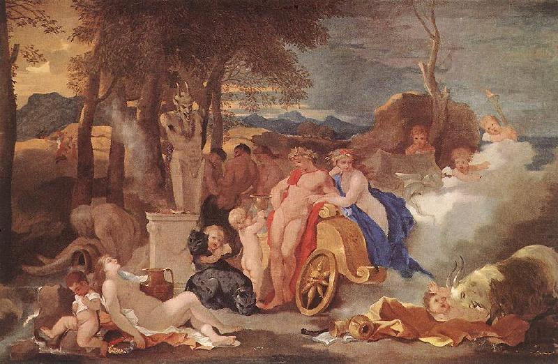 Bacchus and Ceres with Nymphs and Satyrs, Bourdon, Sebastien
