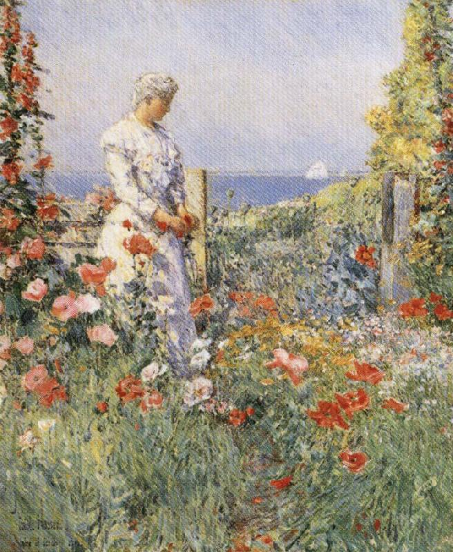 In the Garden:Celia Thaxter in Her Garden, Childe Hassam