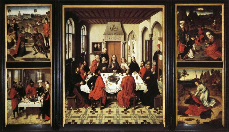 Last Supper Triptych Dieric Bouts Wholesale Oil Painting ...