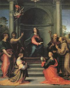 The Annunciation with Saints Margaret Mary Magdalen Paul John the Baptist Jerome and Francis (mk05), Fra Bartolommeo