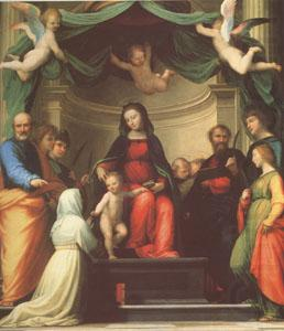 The Mystic Marriage of st Catherine of Siena,with Eight Saints (mk05), Fra Bartolommeo