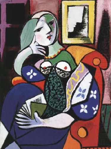 Woman with Book (mk04), pablo picasso