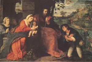 The Adoration of the Shepherds with a Donor (mk05), Palma Vecchio