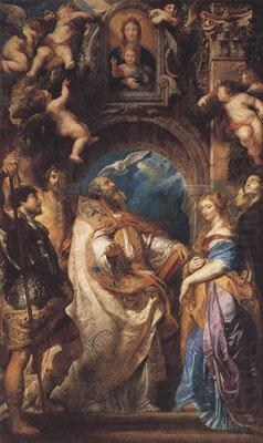 St Gregory the Great Surrounded by Otber Saints (mk01), Peter Paul Rubens