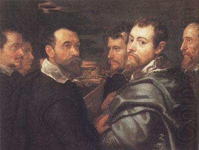 Peter Paul and Pbilip Rubeens with their Friends or Mantuan Friendsship Portrait (mk01), Peter Paul Rubens