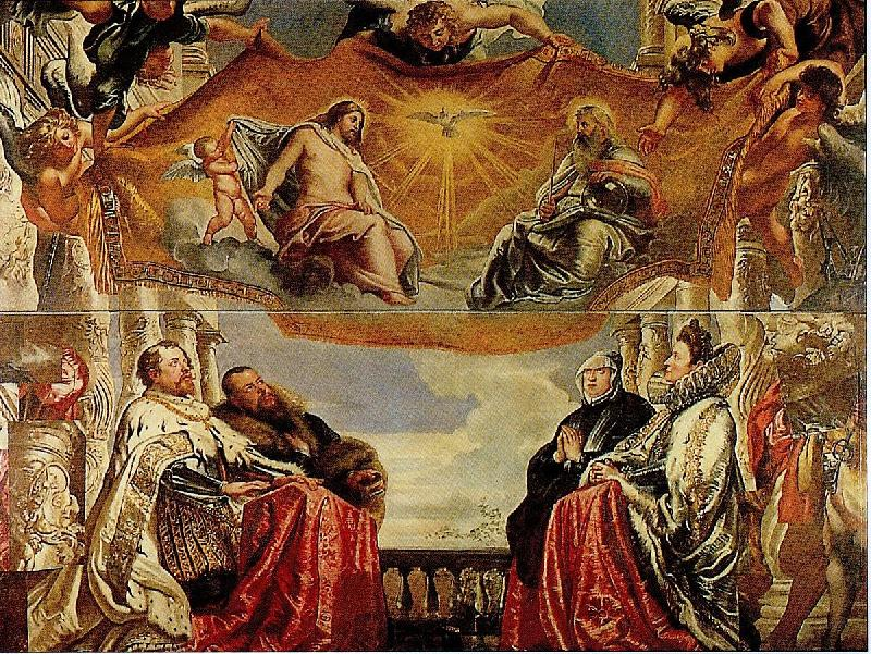 The Gonzaga Family Adoring the Trinity (mk01), Peter Paul Rubens