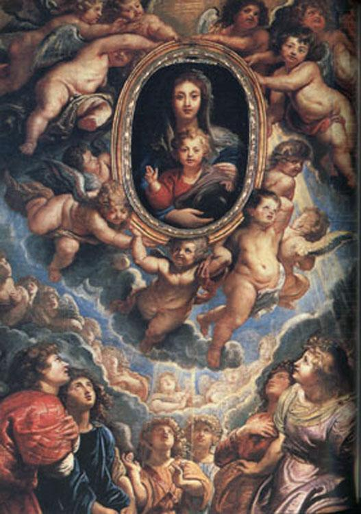 The Virgin and Child Adored by Angels (mk01), Peter Paul Rubens