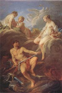 Venus Requesting Arms for Aeneas from Vulcan (mk05), Francois Boucher