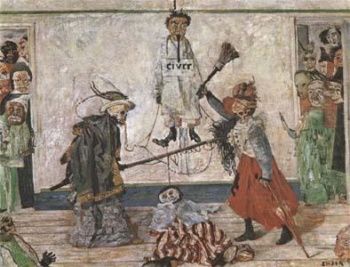 James Ensor Skeletons Fighting for the Body of a Hanged Man (mk09)