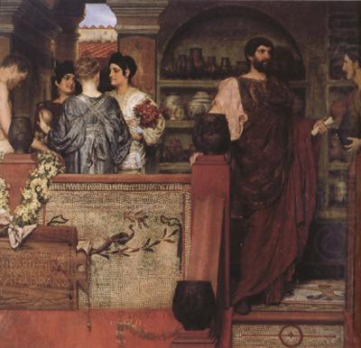 Hadrian Vistiting a Romano-British Pottery (mk23), Alma-Tadema, Sir Lawrence