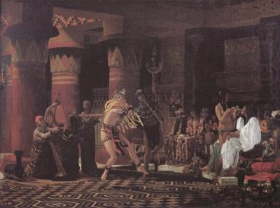 Pastimes in Ancient Egypt 3000 Years Ago (mk23), Alma-Tadema, Sir Lawrence