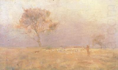 Yarding Sheep (nn02), Charles conder
