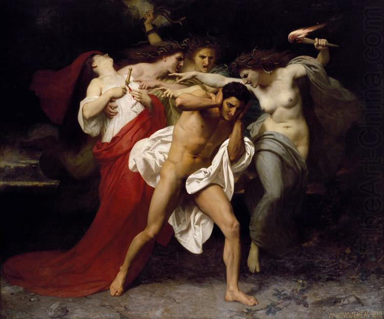 Orestes Pursued by the Furies (mk26), Adolphe William Bouguereau