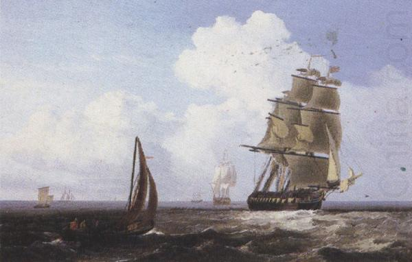 Shipping off Scarborough (mk37), Attributed to john wilson carmichael