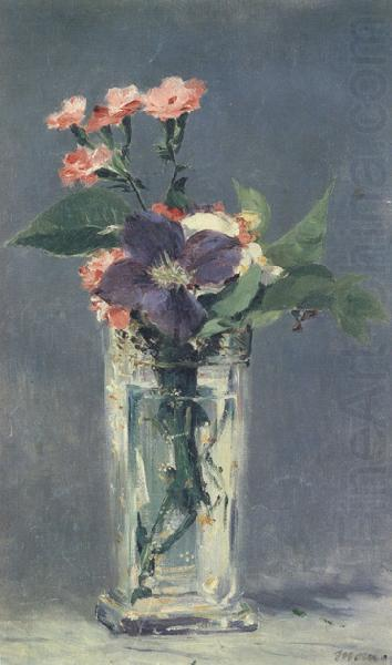 Carnations and Clematis in a Crystal Vase (mk40), Edouard Manet