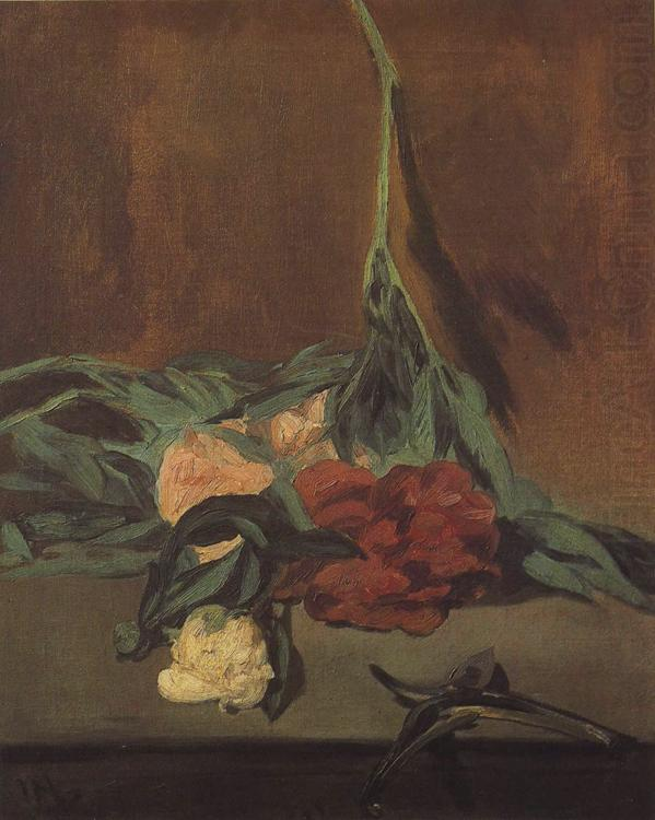 Vase of Peonise on a Pedestal (mk40), Edouard Manet