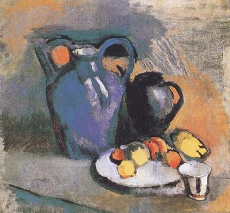 Still Life with Blue Jug (mk35), Henri Matisse