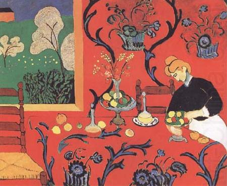 Henri Matisse Harmony in Red-The Red Dining Table (mk35)