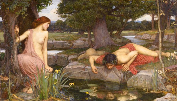 E-cho and Narcissus (mk41), John William Waterhouse