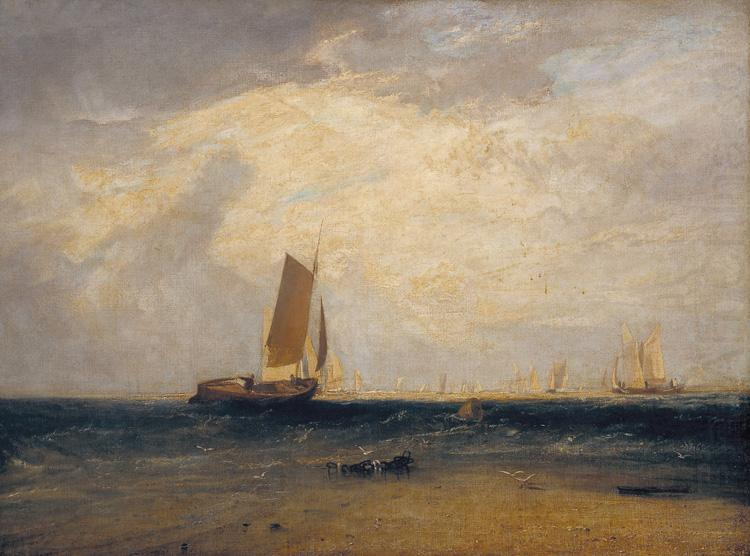 Fishing upon Blythe-sand,tide setting in (mk31), Joseph Mallord William Turner