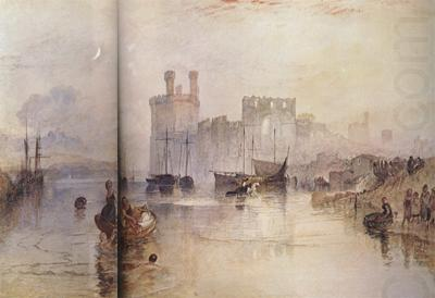 Caernarvon Castle,Wales (mk31), Joseph Mallord William Turner