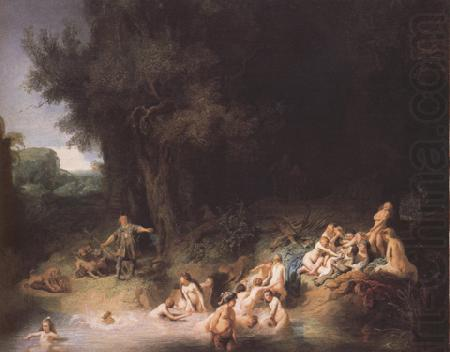 Diana bathing with her Nymphs,with the Stories of Actaeon and Callisto (mk33), REMBRANDT Harmenszoon van Rijn