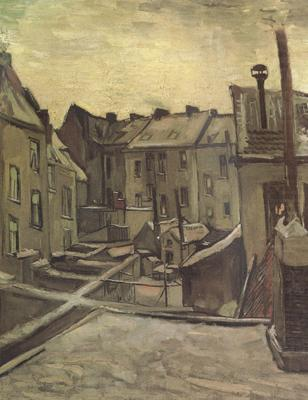 Backyards of Old Houses in Antwerp in the Snow (nn04), Vincent Van Gogh